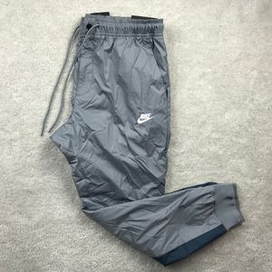 Nike Windrunner Cuffed Jogger Pants Grey Navy Blue